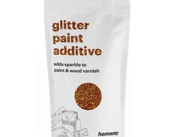 Hemway Glitter Paint Crystals Additive 100g for Emulsion - Copper