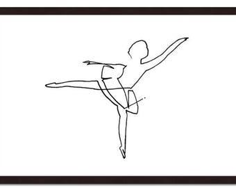 Ballerina 3, line, workline, ligne, ballerine, enfant, fillette, femme, danseuse, étoile