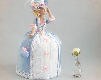 Interior doll, doll needle bed, doll of porcelain, OOAK doll, Ragdoll, Doll for girl, art doll, Handmade art doll Nursery decor Fabric doll