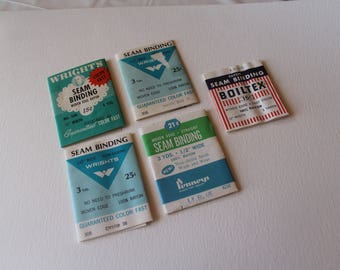 Vintage seam binding wrappers - lot 4