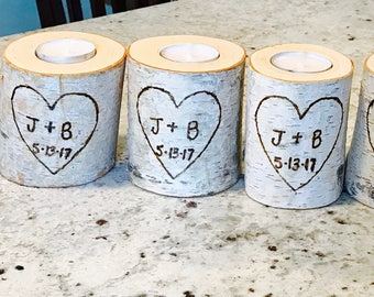Personalized/Custom Birch Candles!