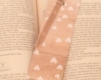WOODEN HEARTS BOOKMARK