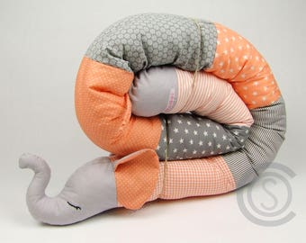 Bed snake 180 cm puck worm storage cushion