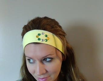 Yellow Adjustable and Stretchy Headbands!