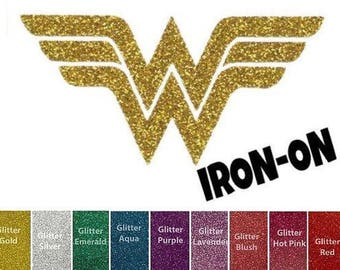 Diy WONDER CREST Iron On, Vinyl Applique, Super Hero, Superhero, Costume Accessory, Tee, Shirt, Logo, Woman, Adult, Toddler, Girls