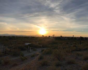 Desert Sunrise Landscape Photo