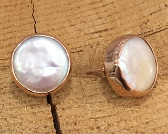 Handmade Silver Earrings With Natural Pearl