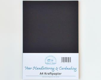 Black Kraft Carton A4, 300 grams