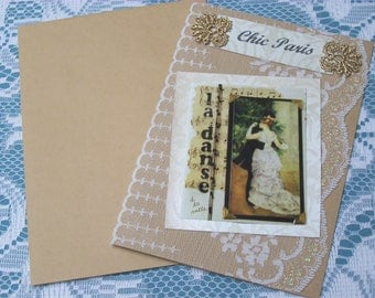 Handmade greeting card. Chic Paris card