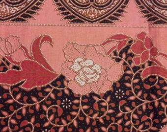 "Batik Fabric From Malaysia Asia Cotton 200cm x 118cm 78.74"" x 43.30"""