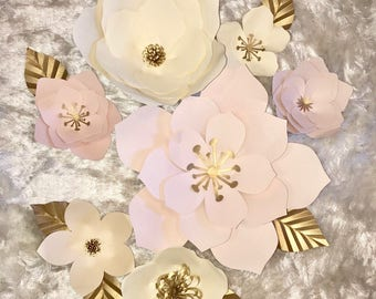 Large Paper Flower Decor/ Nursery Decor/ Customize your Order