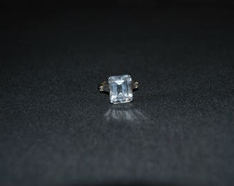 Vintage Square Glass Costume Ring