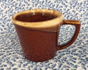 Vintage McCoy Mug Brown Drip 1960s
