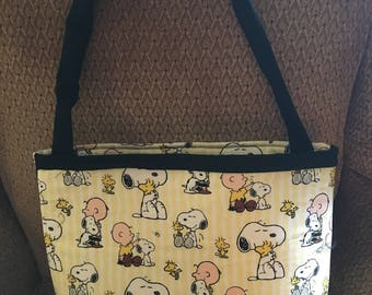Snoopy and Charlie Brown Bag