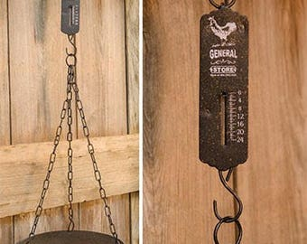 Farmhouse Decor General Store Hanging Scale