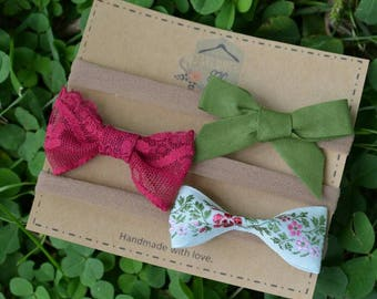 Vintage lace - Vintage Ribbon - Vintage - Baby headband - Baby Bow - Floral Bow - Lace Bow