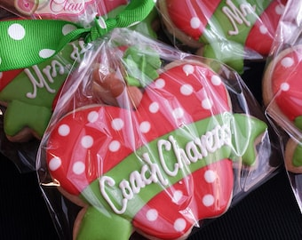 Teachers Appreciation Cookies - Personalized Apples, Decorated Sugar Cookies, Personalized Cookies, Thank You Cookies