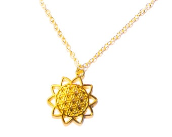 Gold-plated chain life flower | Boho