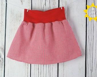 Girls skirts Roch Gr. 104 red/white checkered