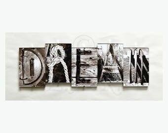 DREAM *** Letter Art Reflections, Alphabet Photography Picture