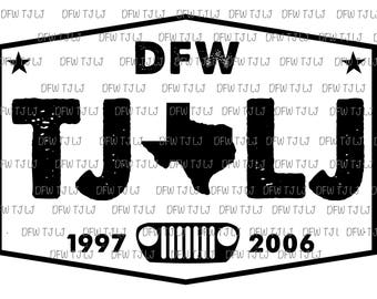 DFW TJ LJ Jeep Badge
