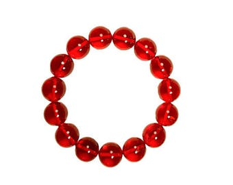 Red Dominican Amber Bracelet Adjustable Sizes Natural Amber