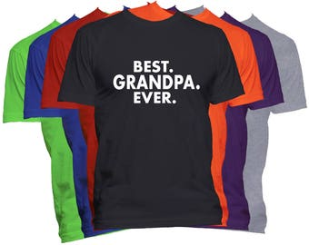 Best Grandpa Ever T Shirt Fathers Day Shirt Dad Papa Pop Pops Papaw Father World's Greatest Dad T-Shirt Dad Life