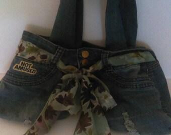 Jean purse butterfly interior