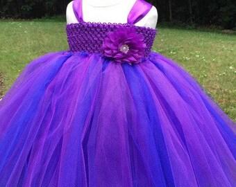 Cobalt & Purple Tutu Dress