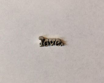 Love Floating Charm for Locket Necklaces, Floating Charm, Floating Charm Necklace, Floating Charm Locket