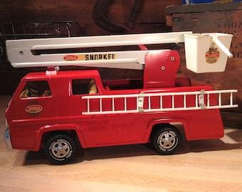 Tonka Truck, TONKA FIRE TRUCK, The Snorkel, Tonka Fire Engine, 1970s Toys, Tonka Fire Truck, Toy Firetruck, Vintage Tonka Trucks, Toy Trucks