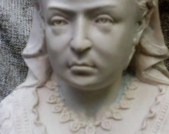 Marble bust of Queen Victoria