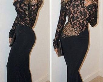 Beautiful evening dress with gold detail