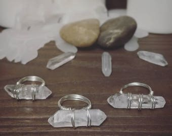 Quartz point ring