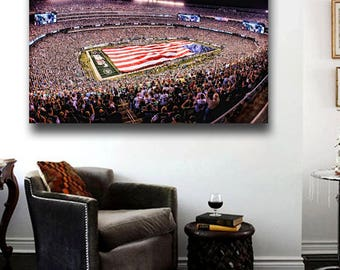 Met Life Stadium Canvas print NY Jets Football Field 36 x 24 Panoramic view