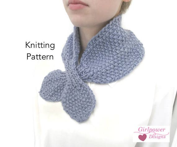 Ascot Scarf Knitting Pattern : Cozy Ascot Scarf, Knitting Pattern, Quick & Easy, Chunky Yarn, Neck Warme...