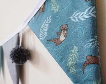 Nursery bunting / Home Decor / Otter