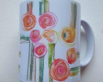 "Mug ""ARTICHOKES""-Flower collection-2017"