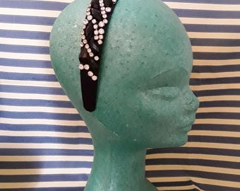 Jewel headband with Rhinestones and applications