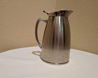 Stainless steel milk server, cafe carafe vintage