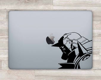 Anime MacBook Decal Al MacBook Sticker Edward MacBook Air Elric MacBook Pro 2016 MacBook Retina Air Laptop Decal Laptop Sticker Vinyl m1025
