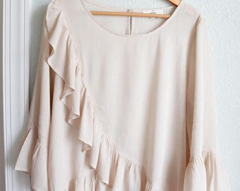 Labeled in Love - Ruffled Front Shirt