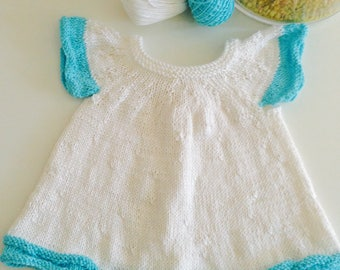 Dress for baby girl-Little princess dress-SILK TOUCH-knitted-cotton Made from sugar cane-usually ships