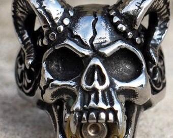 32 ACP Demon Skull Ring