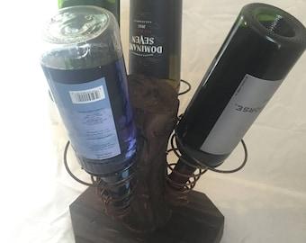 Rustic wine holder