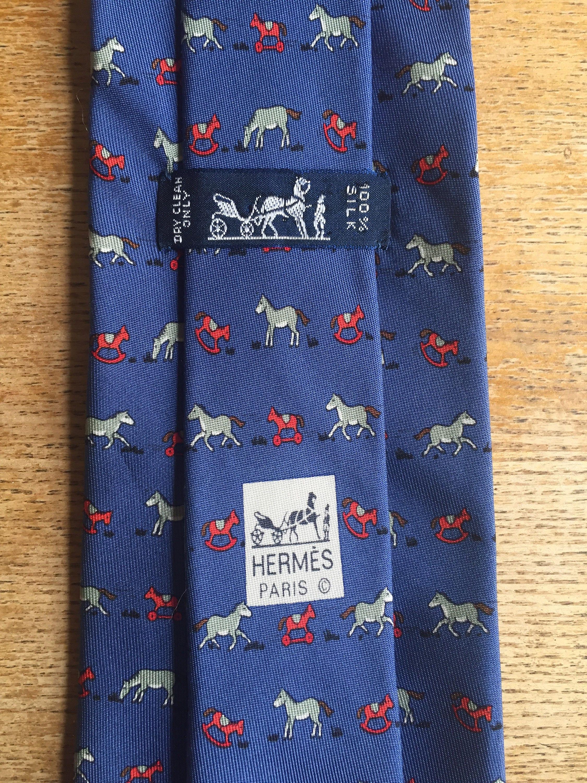 Vintage Patterns Hobby Horse - Details hermes vintage blue 100 silk tie 7894 ma rare hobby horse pattern
