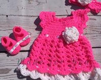 baby girl crohet dresses and dress sets