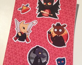 Night in the woods Sticker sheet