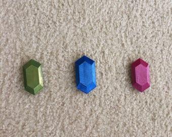 Zelda 3D Printed Rupees