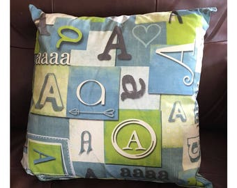 Shabby Look Initial A Throw Pillow